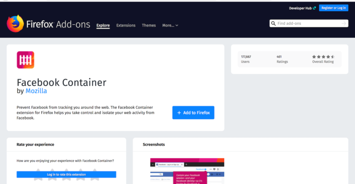 擴充套件】Facebook Container 控制Facebook 跟蹤- Mozilla Hong